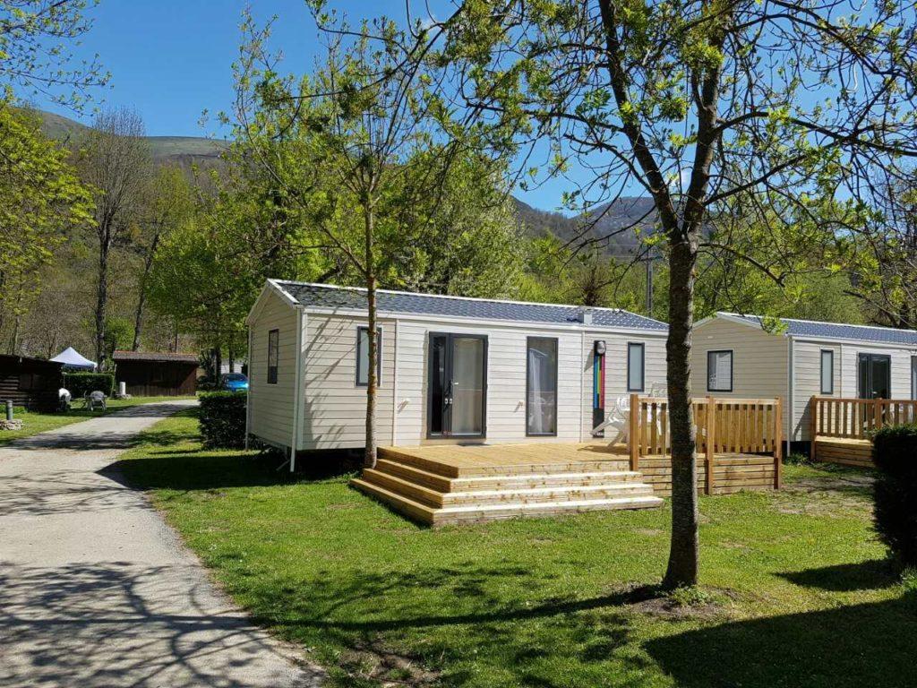 location de mobil home à l'année au camping d'Ax les Thermes